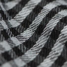 Små rutig pashmina sjal i grå och svart