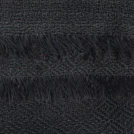 Mörkgrå pashmina halsduk vävd i diamantmönster