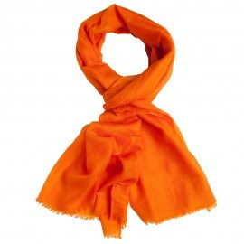 Orange pashmina sjal i tuskaftbindning