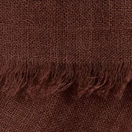 Svartbrun pashmina sjal i tuskaftbindning