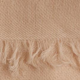 Beige 2-trådigt pashmina sjal