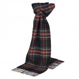 Svart skotskrutig halsduk