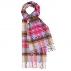 Pink skotskternet tørklæde
