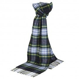 Grön skotskrutig halsduk