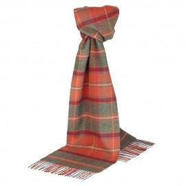 Cinnoberröd skotskrutig halsduk