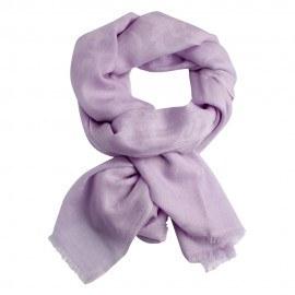 Lavendelfärgad jacquardvävd pashmina sjal