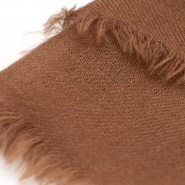 Chokladfärgad pashmina sjal i 2-trädigt kypert