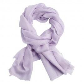 Lavendelfärgad pashmina sjal i 2-trädigt kypert