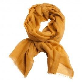 Mörk gyllene pashmina sjal i 2-trädigt kypert