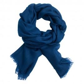 Svartblå pashmina sjal i 2-trädigt kypert