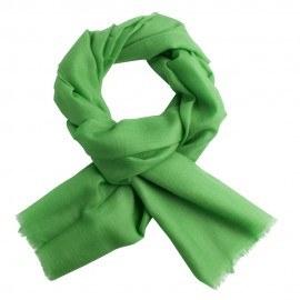 Gräsgrön pashmina sjal i tuskaftbindning