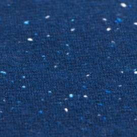 Blå flecked tubhalsduk i ren kashmir