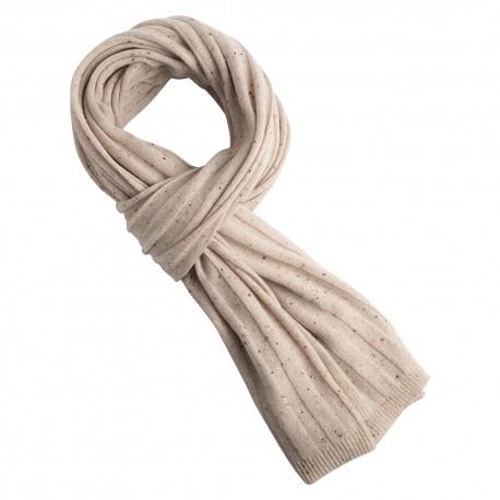 Beige flecked stickad kashmir scarf