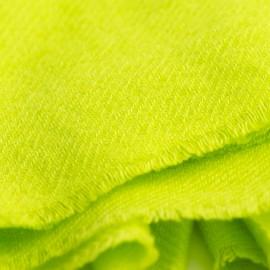 Limegrön kypertvävd pashmina sjal