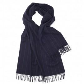 Stor mörkblå halsduk med tunna ränder
