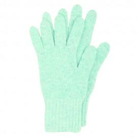 Ljusblå stickade handskar i lammull