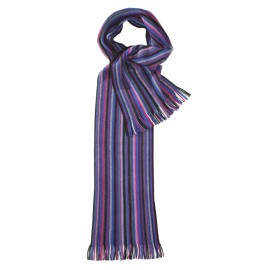 Randig halsduk i blå och violet färger