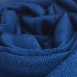 Mörkblå pashminasjal i kashmir och siden