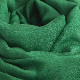 Mörkgrön pashminasjal i kashmir och siden