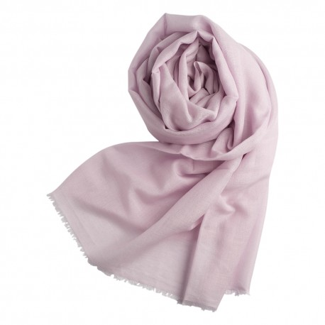 Lavendelfärgad pashminasjal i kashmir och siden