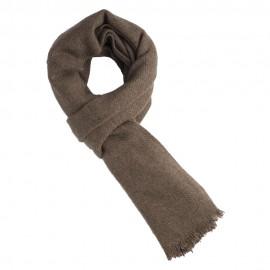 Naturfärgad gråbrun halsduk i ren jak ull
