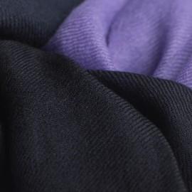 Tvåfärgad pashmina sjal i marinblå och lavendel