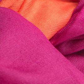 Tofarvet pashmina tørklæde i fuchsia och korallröd