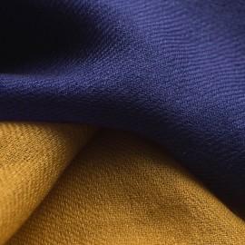 Tvåfärgad pashmina sjal i marinblå och gyllene