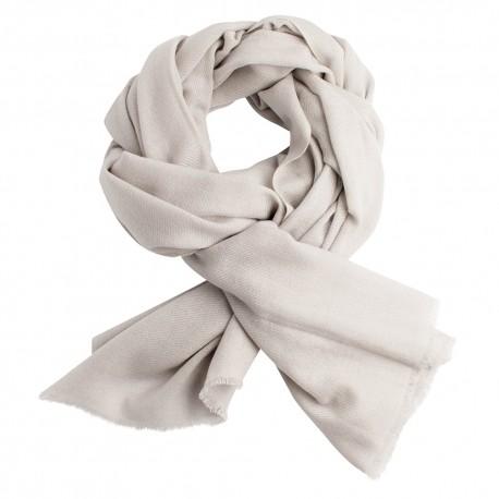 Ljusgrå pashmina halsduk i ren kashmir