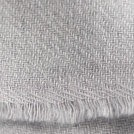 Ljusgrå kypervävd pashmina halsduk