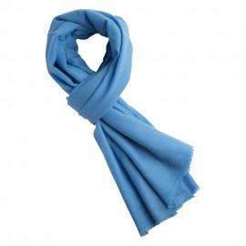 Ljusblå pashmina halsduk i ren kashmir