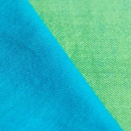 Tvåfärgad pashmina sjal i petrolblå och grön