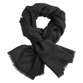 Mörkgrå jacquardvävd pashmina sjal
