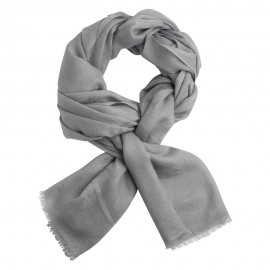 Ljusgrå jacquardvävd pashmina sjal