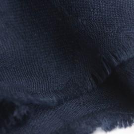 Marinblå jacquardvävd pashmina sjal