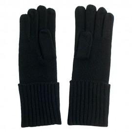 Svart kashmir beanie och handskar