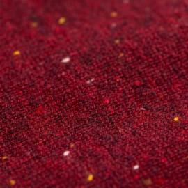 Vinröd flecked poncho i kashmir