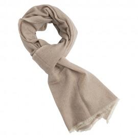 Kashmir halsduk i beige / vit melange