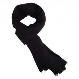 Svart scarf i ren jak ull