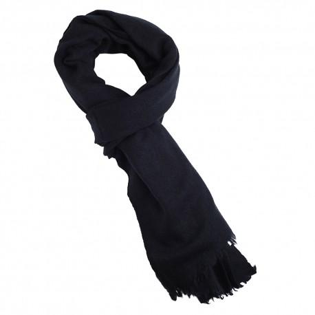Navy scarf i ren jak ull