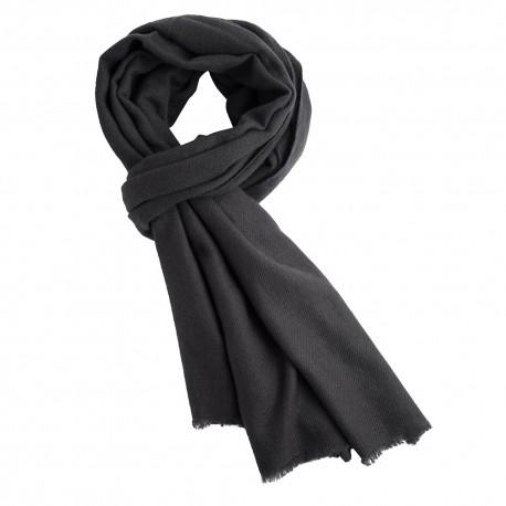 Koksgrå kypertvävd pashmina scarf