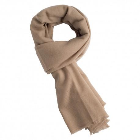 Sand färgad kypertvävd pashmina scarf