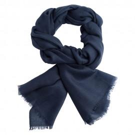 Marinblå pashmina sjal i 2-trädigt kypert