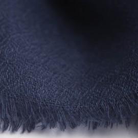 Marinblå pashminasjal vävd i diamantmönster