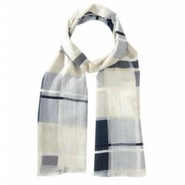 Rutig scarf i ljusblå nyanser