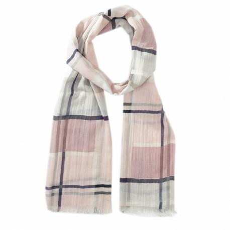 Rutig scarf i rosa nyanser