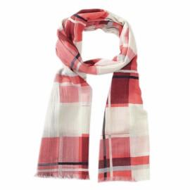 Rutig scarf i röda nyanser