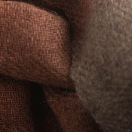 Tvåfärgad jak halsduk i naturbrun och orange