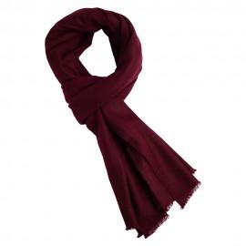Rödbrun kypertvävd pashmina halsduk
