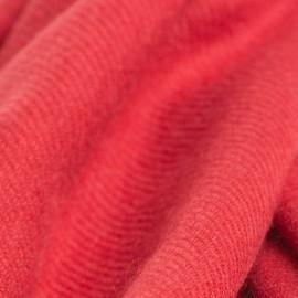 Tranbärsröd kypertvävd pashmina halsduk
